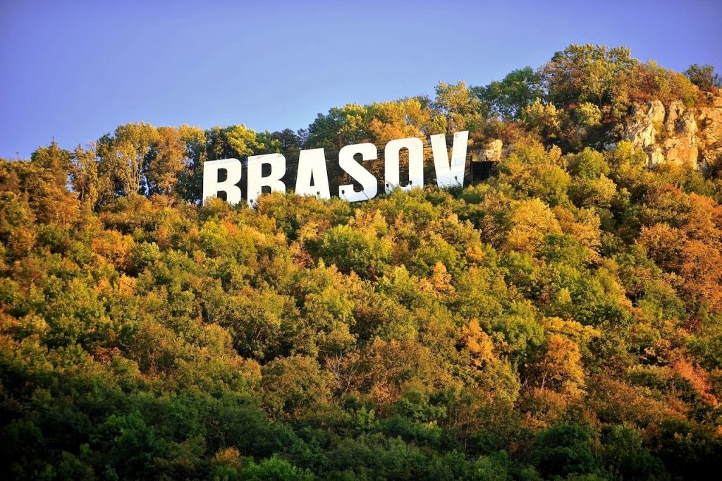 brasov romania sign hollywood